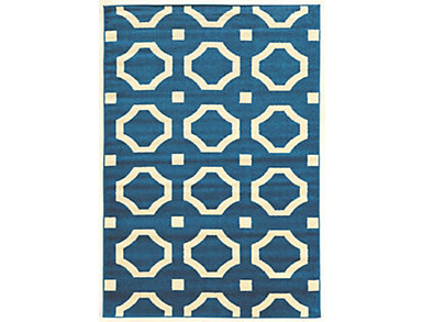 Claremont Octagon  Blue 8 x10, , large
