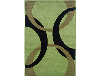 Corfu Lime & Black 8 x10.3 Rug, , large