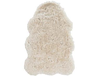 "Faux Lamb Skin Ivory 3'6"" x 5'6"" Rug, , large"