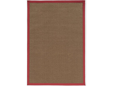 Faux Sisal Brown   Red Area Rug 5' x 8', , large