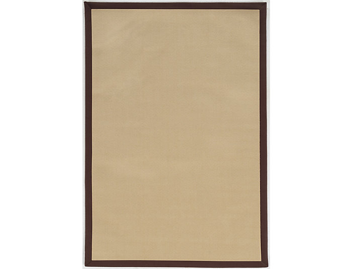 Faux Sisal Natural   Brown Area Rug 7' x 9', , large