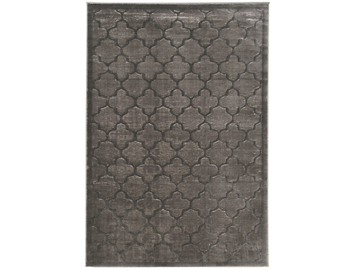 Platinum Trellis Grey 8x11 Rug, , large