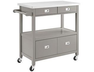 Sydney Grey Kitchen Cart, , large