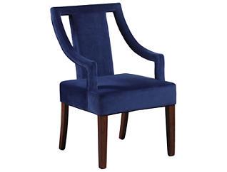 Sylvan Velvet Arm Chair, Blue, , large