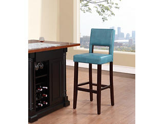 Vega Blue bar stool, Blue, large