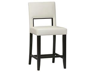 Vega White counter stool, , large