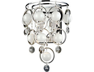 Nellie Chrome Wall Sconce, , large