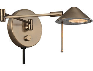 Macie Antique Brass Wall Lamp, , large