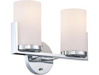 Tegan 2-Light Chrome Wall Lamp, , large
