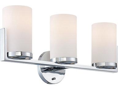 Tegan 3-Light Chrome Wall Lamp, , large