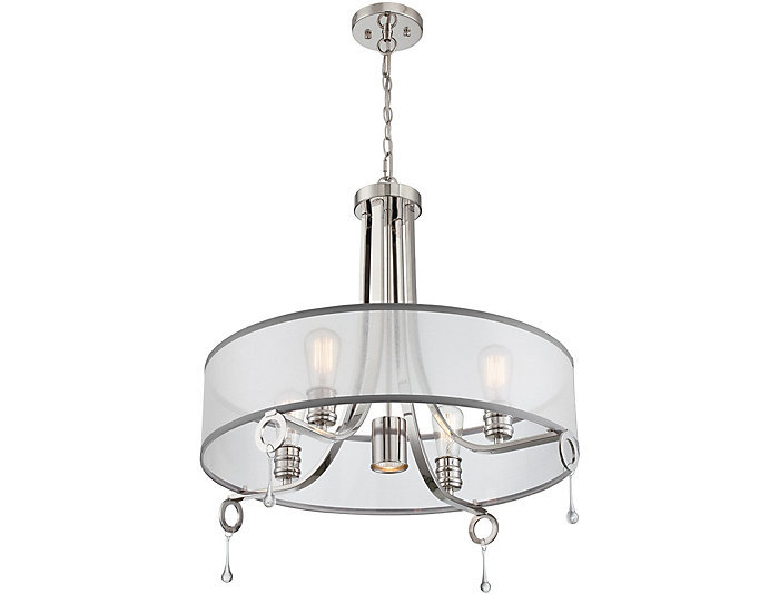 Lenora Steel Chandelier, , large