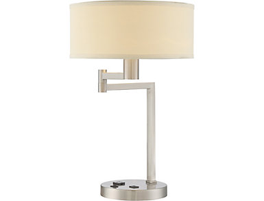 Rosemawr Silver Table Lamp, , large