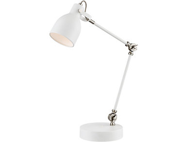 Stonecrop White Desk Lamp, , large