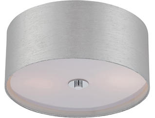 Harriet Chrome Flush Lamp, , large