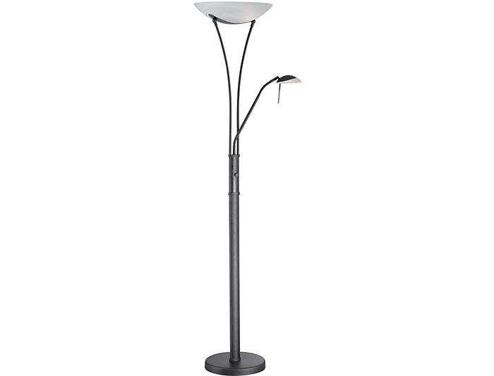 Godfrey Black Torchiere Lamp, , large