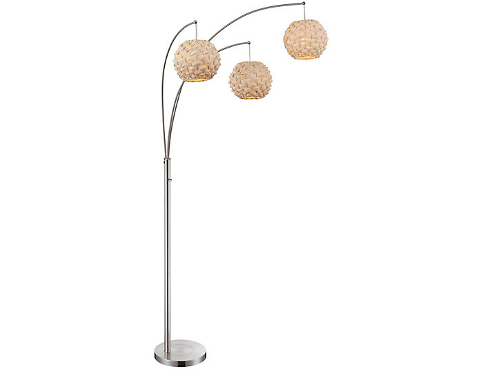 Hopper Silver Floor Lamp, , large