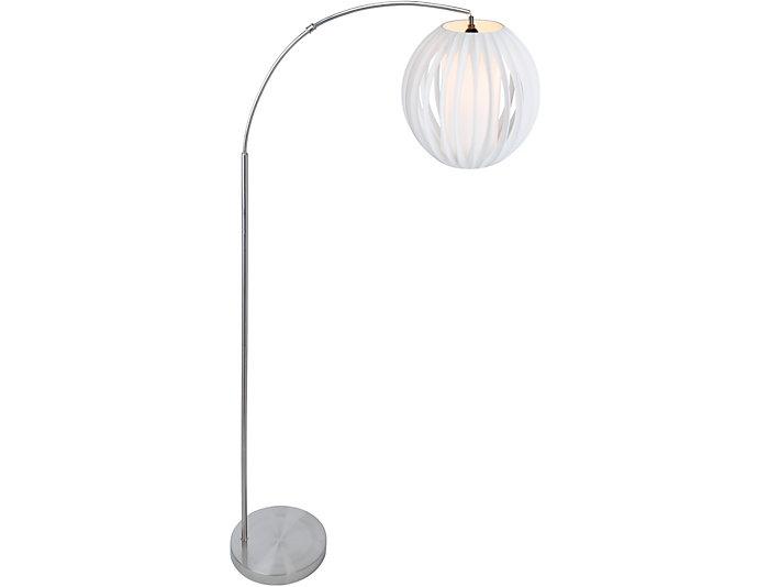 Henley Nickel Floor Lamp, , large