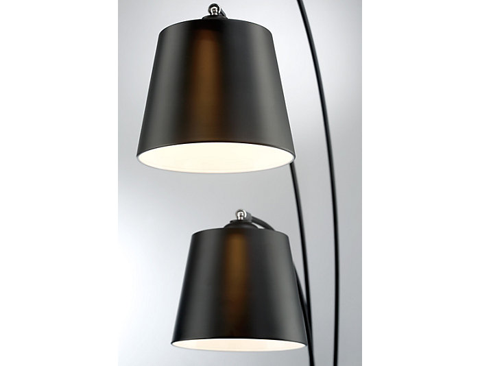 Mirabel Black Floor Lamp, , large