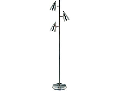 Orson Silver Floor Lamp, , large