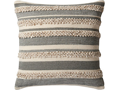 Grey & Ivory Accent Pillow, , large