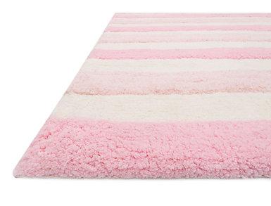 Lola Pink/Multi 5' x 7' Shag Rug, , large