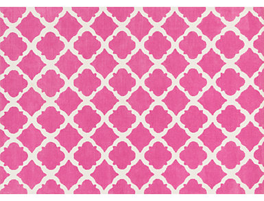 Bubble Gum Pink Piper Rug 3'x5, , large