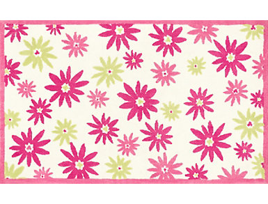 Pink/Green Piper Rug  2'x 3', , large