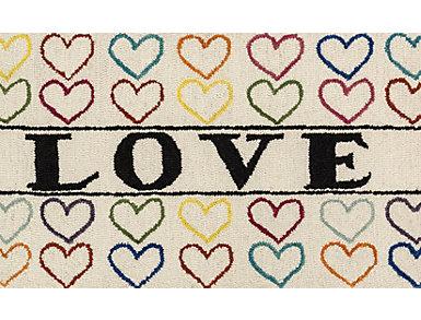 "Ivory/Multi Love Rug 2'3""x3'9"", , large"