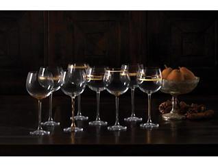 Deco Wine Goblet Set/8, , large