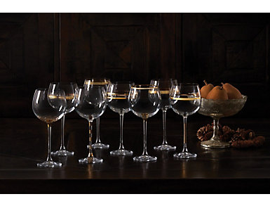 Deco Wine Goblet Set/8, , large