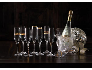 Deco Champagne Flute Set/8, , large