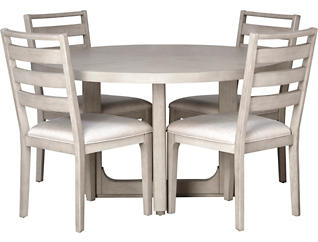 Awesome Orchard Park Weathered White 5 Piece Dining Set Gmtry Best Dining Table And Chair Ideas Images Gmtryco
