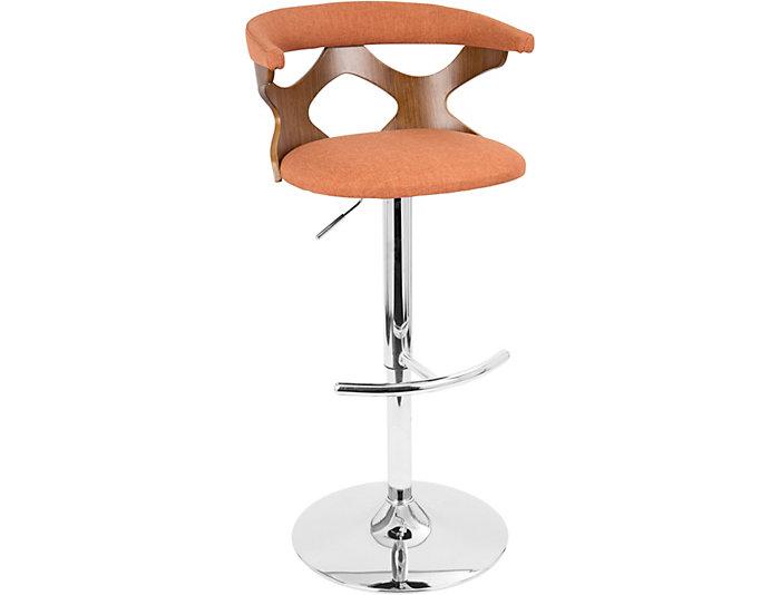 Strange Alexa Orange Swivel Bar Stool Art Van Home Theyellowbook Wood Chair Design Ideas Theyellowbookinfo