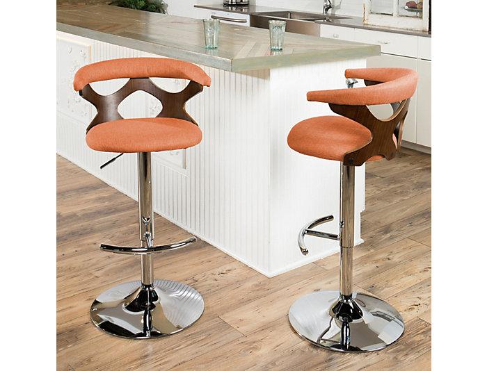 Magnificent Alexa Orange Swivel Bar Stool Art Van Home Theyellowbook Wood Chair Design Ideas Theyellowbookinfo