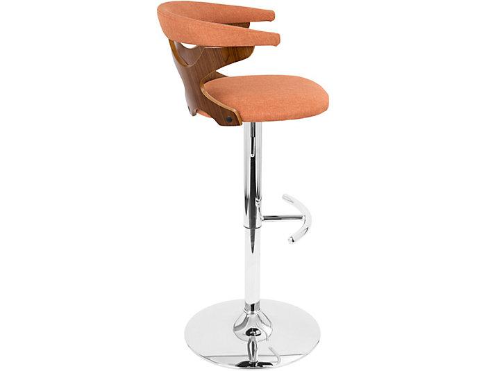 Marvelous Alexa Orange Swivel Bar Stool Art Van Home Theyellowbook Wood Chair Design Ideas Theyellowbookinfo