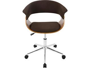 Tinley Walnut Mid-Century Desk Chair, , large