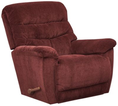 La-Z-Boy Joshua Rocker Recliner, Beige, Burgundy, swatch