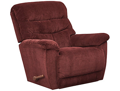 La-Z-Boy Joshua Rocker Recliner, Burgundy, Burgundy, large