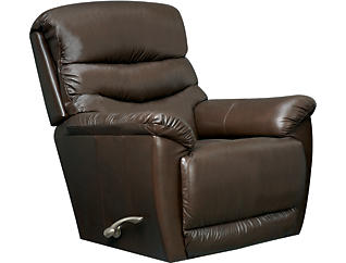 La-Z-Boy Joshua Leather Rocker Recliner, Brown, , large