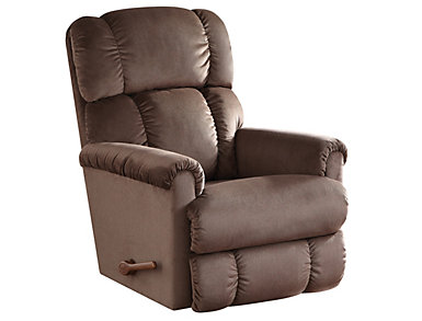 Pinnacle II Rocker Recliner, Brown, Brown, large