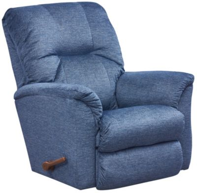 La-Z-Boy Gabe Rocker Recliner, Grey, Blue, swatch