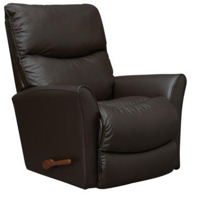 Rowan Leather Rocker Recliner, Dark Brown, swatch