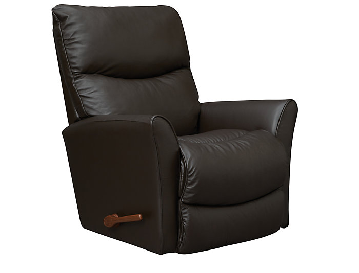 La-Z-Boy Rowan Leather Rocker Recliner, Brown, , large