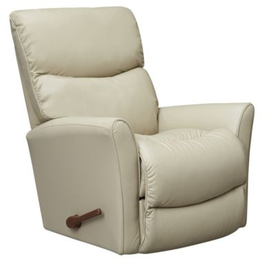 Rowan Leather Rocker Recliner, Taupe, swatch