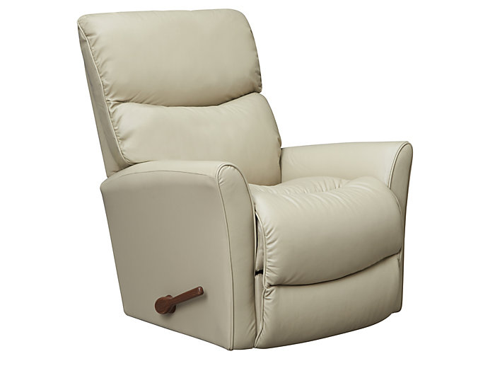 La-Z-Boy Rowan Leather Rocker Recliner, Taupe, , large