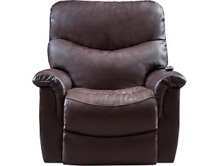James Triple Power Leather Recliner, , large