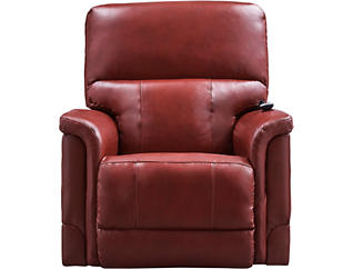 Oscar Triple Power Leather Recliner, , large
