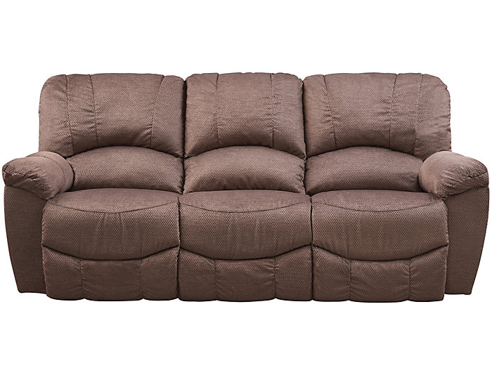 La Z Boy Hayes Ii Reclining Sofa Brown Large