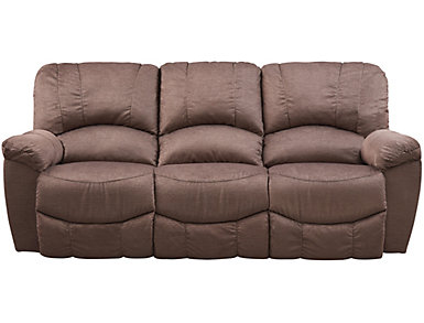 La Z Boy Hayes II Reclining Sofa, Brown, , Large