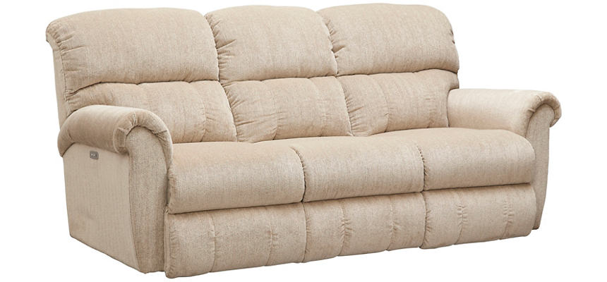 La Z Boy Briggs Power Reclining Sofa, Beige, , Large